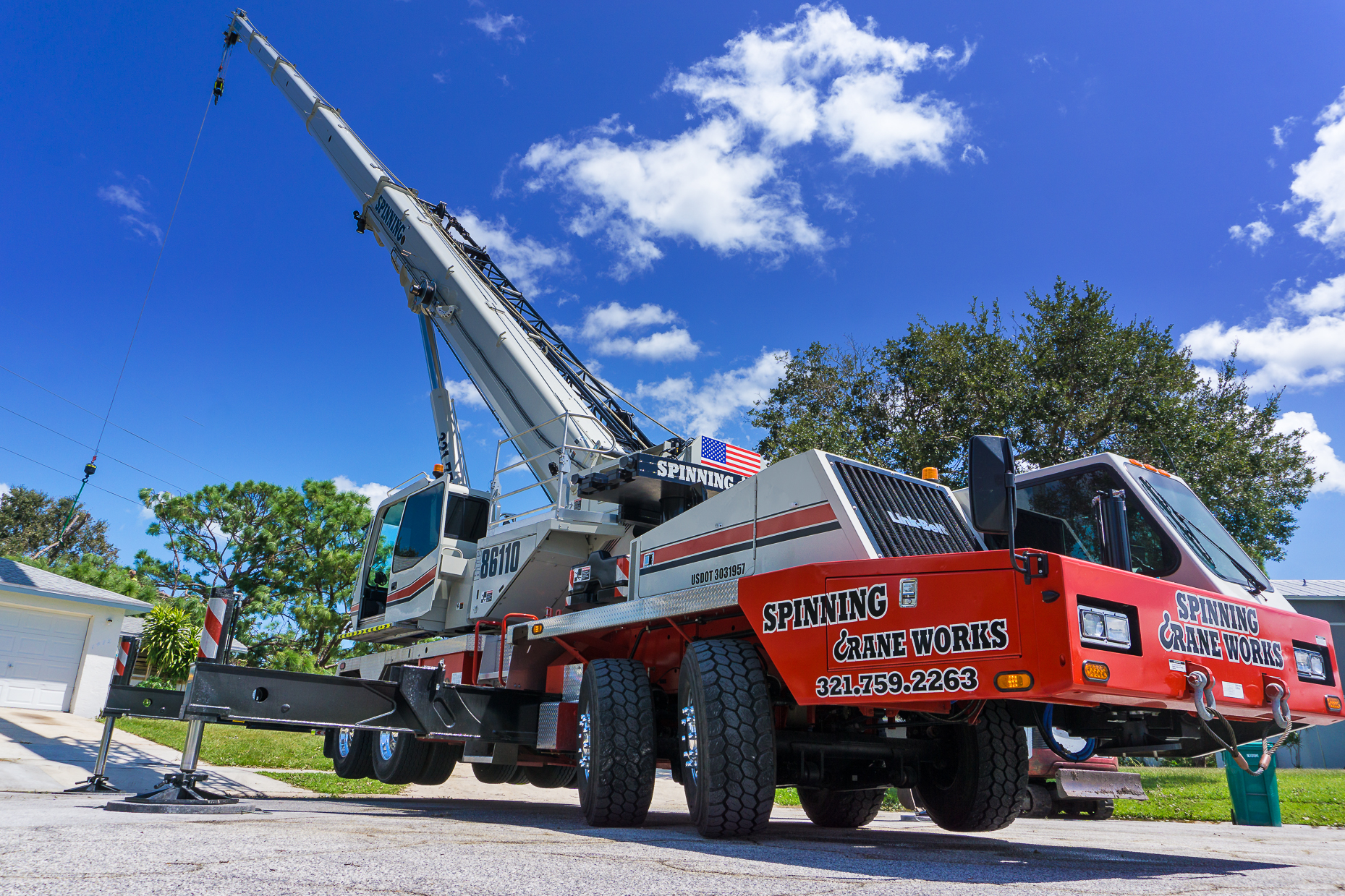 Spinning Crane Works Central Florida's Best Crane Lifting Service